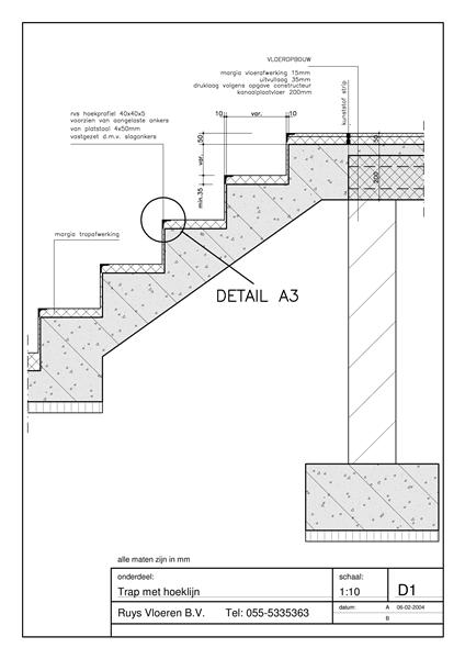 Ruys vloeren b v bestekservices detailtekeningen for Trap doorsnede