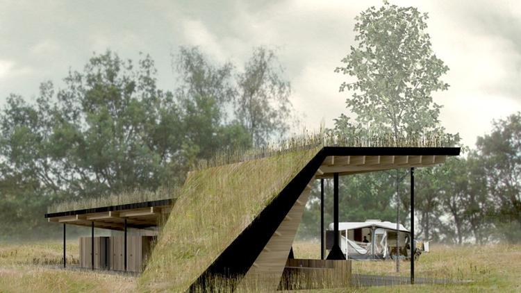 Architecten ontvangstgebouw hoge veluwe bekend for Verplaatsbaar huis