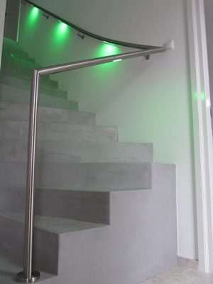 lumigrip leuningen met led verlichting lumigrip rvs trapleuning met led systeem mood architectenwebnl
