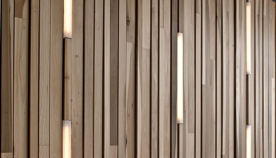 Derako international b v derako lineair wand systeem - Interieur gevelbekleding houten ...