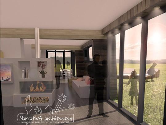 Narrativa architecten houten villa driemond ecologisch bouwen - Huis architect hout ...