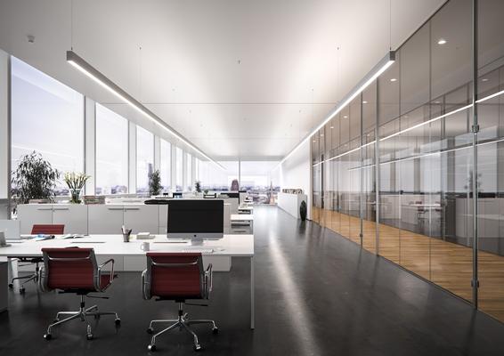 line uiterst slanke led lichtlijn kantoorverlichting met directindirect licht architectenwebnl