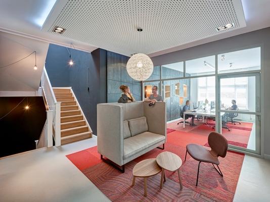 Creatief interieur voor hip Greenberry - architectenweb.nl