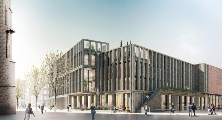 De zwarte hond presenteert woongebouw kerkplein architectenweb.nl