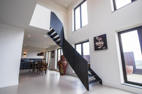 Zwevende Trap Veiligheid : Van bruchem staircases stalen trap amsterdam architectenweb