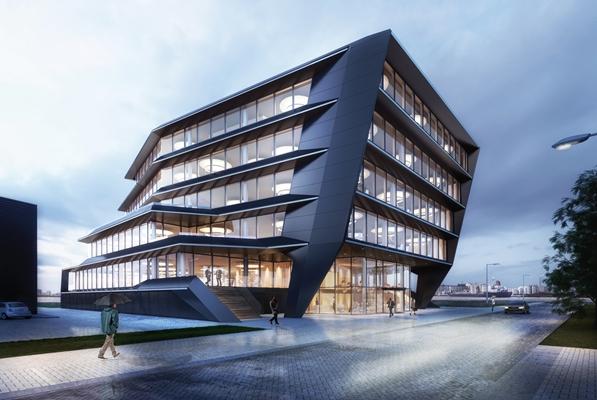 Nieuw kantoorpand van MVSA voor Houthavens Amsterdam ...
