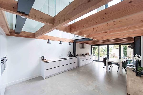 Glazen Vloer Huis : Glazen vloer voor herenhuis in overveen architectenweb.nl
