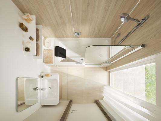 Burgmans sanitair bv twinline met gedeelde baddeur