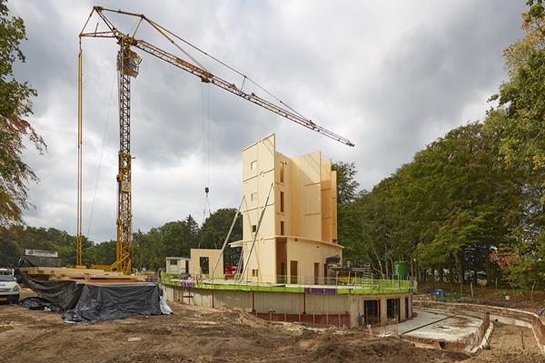 Bouw gestart van houten kern nieuwe triodos kantoor architectenweb.nl