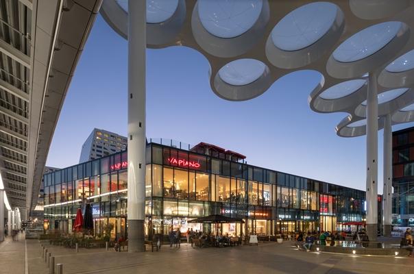 Winkels en horeca boven sporen utrecht centraal architectenweb.nl