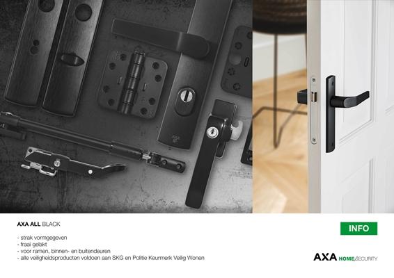 Deurbeslag Buitendeur Axa.Axa Stenman Nederland B V Axa All Black Architectenweb Nl