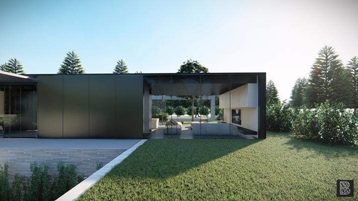 Bruis architectuur ontwerp particuliere minimalistische