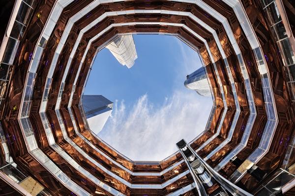 Slaapbank Manhattan Vd.Eerste Fase Hudson Yards New York Officieel Geopend