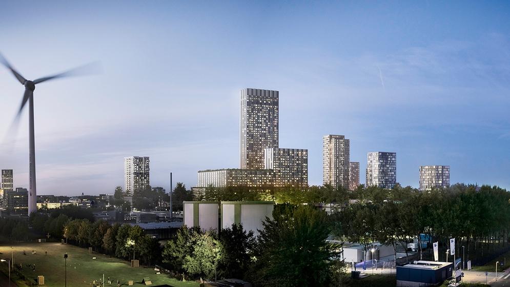 De Caap: 150 meter hoge blikvanger voor wijk Rivium - Architectenweb