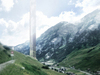 Morphosis onthult hoteltoren naast Therme Vals