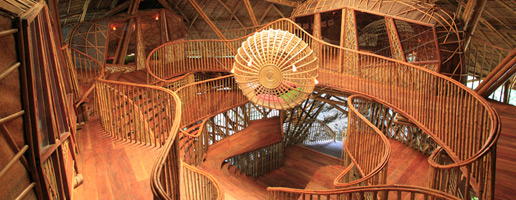 Educatiecentrum van bamboe opent deuren