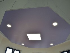 Pillen Products | Multifunctioneel plafond LED verlichting Akoestiek & Infraroodverwarming