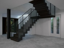 Back to black - Bauhaus inspired staircase